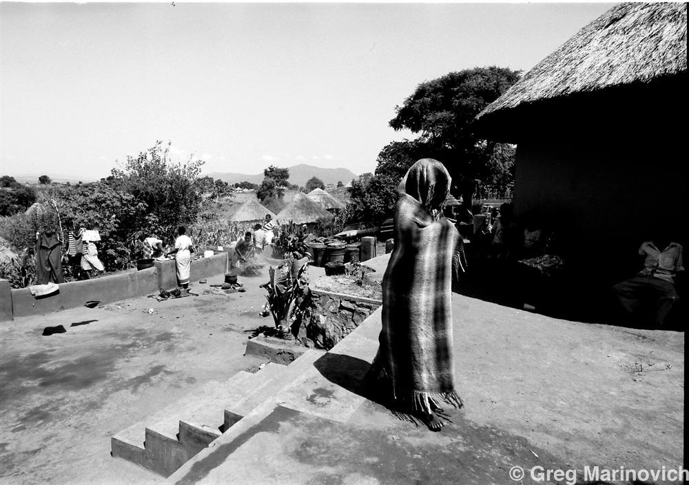 Sowetan Cookie Kashane at her initiation as Ndau medium / diviner at Dolly Village, Venda, South Africa Feb 4, 1991. (Greg Marinovich)