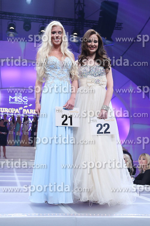 28.02.2015, Europapark Dom, Rust, GER, Miss Germany Wahl 2015, im Bild Celine Willers (Miss Baden Wuerttemberg 2015), Jasmin Gumpl (Miss Mitteldeutschland 2015) rechts // during the election to Miss Germany 2015 at the Europapark Dom in Rust, Germany on 2015/02/28. EXPA Pictures © 2015, PhotoCredit: EXPA/ Eibner-Pressefoto/ BW-Foto<br /> <br /> *****ATTENTION - OUT of GER*****
