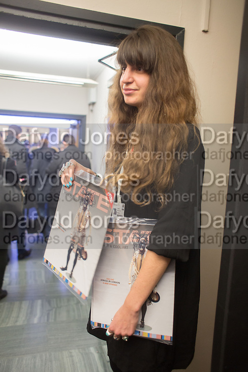 Preview for the London Art Fair,  Islington Business Design Centre. London. 13 January 2014