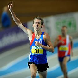 07-02-2010 ATLETIEK: NK INDOOR: APELDOORN<br /> Nederlands kampioen 1500 meter Rene Stokvis<br /> ©2010-WWW.FOTOHOOGENDOORN.NL