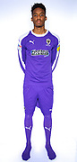 AFC Wimbledon goalkeeper Nathan Trott (1)during the official team photocall for AFC Wimbledon at the Cherry Red Records Stadium, Kingston, England on 8 August 2019.