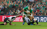 Wembley, Great Britain, Chris HENRY, coming away with the ball during the Pool D Game, Ireland vs Romania.  2015 Rugby World Cup, Venue, Wembley Stadium, London, ENGLAND.  Sunday  27/09/2015 <br /> <br /> Mandatory Credit; Peter Spurrier/Intersport-images]