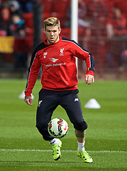 ADELAIDE, AUSTRALIA - Sunday, July 19, 2015: Liverpool's Alberto Moreno during a training session at Coopers Stadium ahead of a preseason friendly match against Adelaide United on day seven of the club's preseason tour. (Pic by David Rawcliffe/Propaganda)