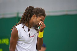 LONDON, ENGLAND - Monday, June 21, 2010: Dustin Brown (JAM) during the Gentleman's Singles 1st Round on day one of the Wimbledon Lawn Tennis Championships at the All England Lawn Tennis and Croquet Club. (Pic by David Rawcliffe/Propaganda)