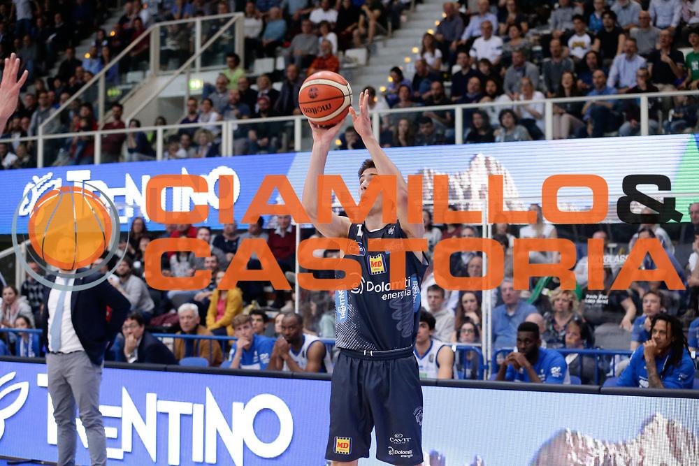 Dolomiti Energia Trento<br /> Dolomiti Energia Aquila Basket Trento - Germani Basket Brescia Leonessa<br /> Lega Basket Serie A 2016/2017<br /> PalaTrento, 23/04/2017<br /> Foto Ciamillo-Castoria / M. Brondi