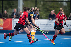 Barnes v Wisbech Town - Investec Women's O35's Shield Final, Lee Valley Hockey & Tennis Centre, London, UK on 30 April 2017. Photo: Simon Parker