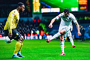Leeds United midfielder Jack Harrison (22) during the EFL Sky Bet Championship match between Leeds United and Millwall at Elland Road, Leeds, England on 28 January 2020.
