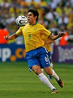 Photo: Glyn Thomas.<br />Brazil v Australia. Group F, FIFA World Cup 2006. 18/06/2006.<br /> Brazil's Kaka.