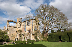 © Licensed to London News Pictures. 16/04/2018. Winchcombe, Gloucestershire, UK. Sudeley Castle's 'Royal Sudeley 1,000, Trials, Triumphs and Treasures'. Treasures from Sudeley Castle's 1,000 year history have gone on show in a new exhibition. Called 'Royal Sudeley 1,000, Trials, Triumphs and Treasures', the newly refurbished exhibition includes a collection of priceless objects and curiosities. The exhibition includes a one-of-a-kind, life-size glass-engraved portrait of Katherine Parr by critically acclaimed artist, John Hutton. The artwork was re-discovered during the refurbishment of a holiday cottage on the estate, where it had been for decades. Its importance has now been realised and so it has been brought into the exhibition collection. Numerous items of historic significance are also on display, such as a lock of Katherine Parr's hair, her prayer book and an intricate lace christening canopy believed to have been worked on by Anne Boleyn for the christening of her daughter, Elizabeth I. Sudeley was a royal residence, closely associated with some of the most famous English monarchs, including Edward IV, Richard III, Henry VIII, Lady Jane Grey, Katherine Parr, Elizabeth I and Charles I. The Castle was even home to a secret Queen of England, Eleanor Boteler, whose royal status was unknown for centuries. Photo credit: Simon Chapman/LNP