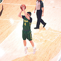 2nd year guard, Brayden Kuski (4) of the Regina Cougars during the Men's Basketball Home Game on Sat Feb 02 at Centre for Kinesiology,Health and Sport. Credit: Arthur Ward/Arthur Images