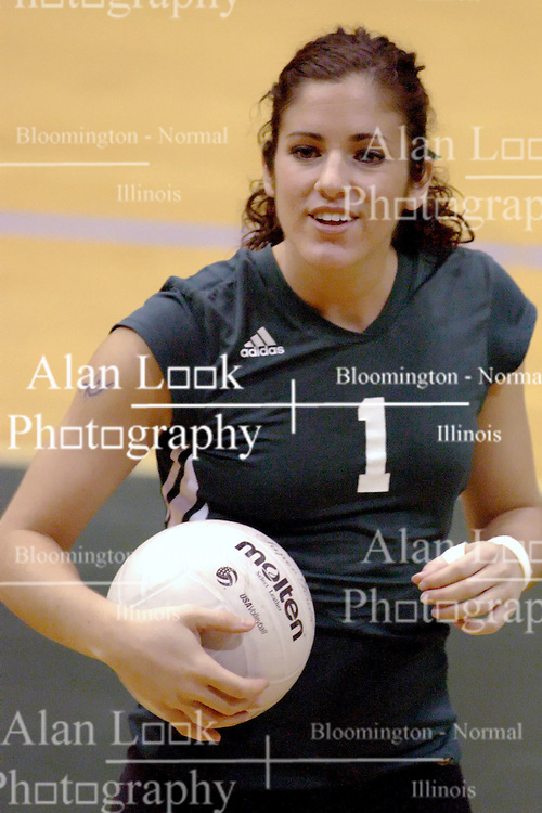 27 October 2006: Titan Melissa Serritella. The Bears won the match 3 games to 1. The match between the Washington University Bears and the Illinois Wesleyan Titans took place at Shirk Center on the IWU campus in Bloomington Illinois.<br />