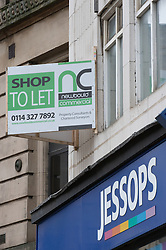 Closed Jessops shops with To Let sign