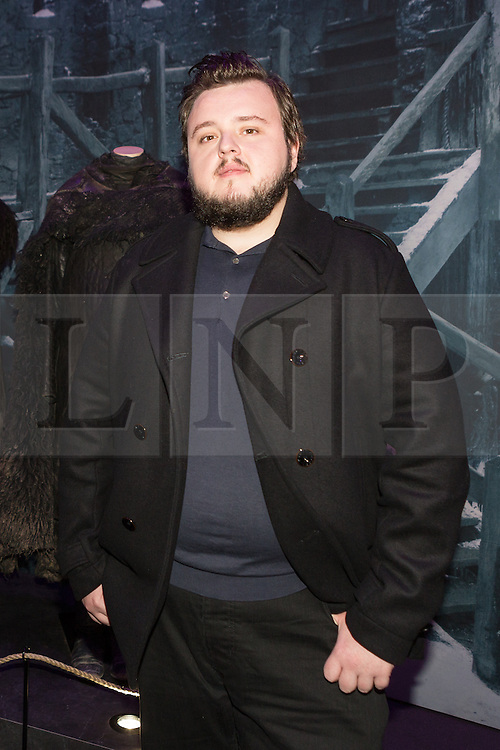 © Licensed to London News Pictures. 09/02/2015. London, UK. Actor, John Bradley at the Game of Thrones Exhibition on 9th February 2014 at the O2 Arena in Greenwich, south-east London. Photo credit : Vickie Flores/LNP
