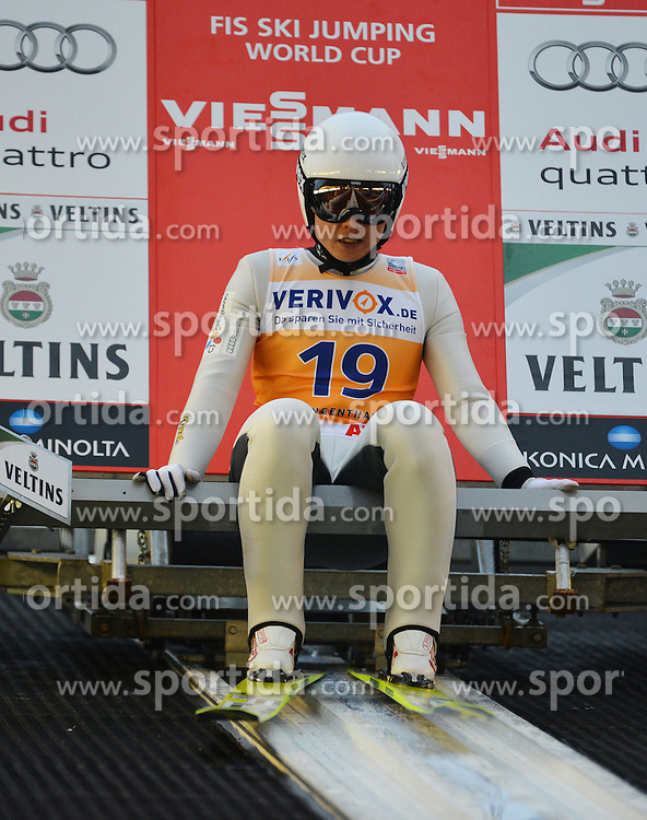 21.11.2014, Vogtland Arena, Klingenthal, GER, FIS Weltcup Ski Sprung, Klingenthal, Herren, HS 140, Qualifikation, im Bild Hyun-Ki Kim (KOR) // during the mens HS 140 qualification of FIS Ski jumping World Cup at the Vogtland Arena in Klingenthal, Germany on 2014/11/21. EXPA Pictures &copy; 2014, PhotoCredit: EXPA/ Eibner-Pressefoto/ Harzer<br /> <br /> *****ATTENTION - OUT of GER*****