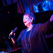 "November 19, 2012 - New York, NY : Singer-songwriter Sandy Stewart performs her routine ""Something to Remember"" at Feinstein's at Loews Regency in Manhattan on Monday evening. She is accompanied by her son, pianist Bill Charlap (not pictured), and bassist Peter Washington (not pictured). CREDIT: Karsten Moran for The New York Times"
