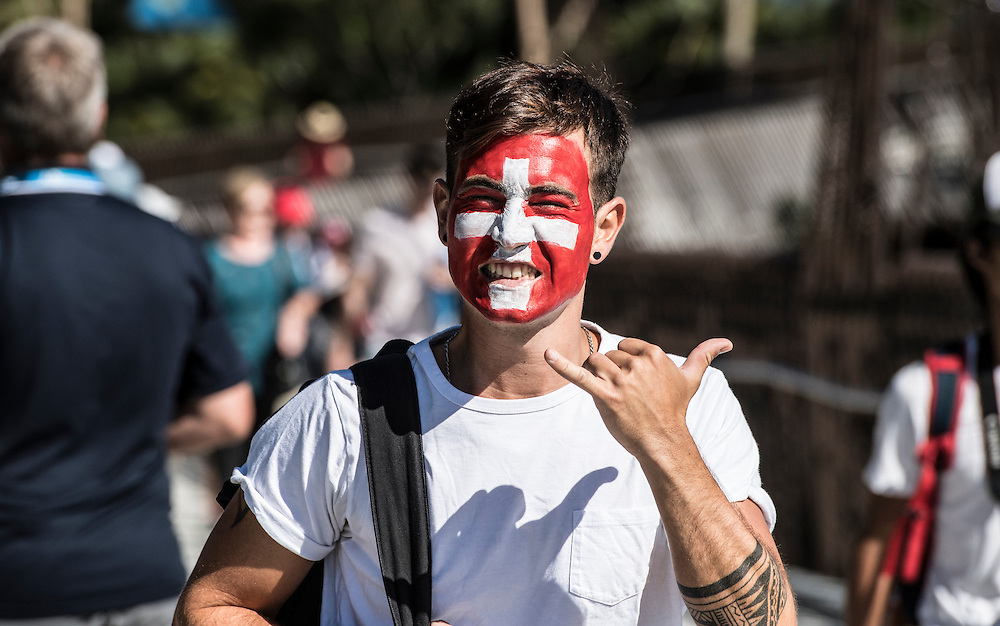 Crowds enter Melbourne Park on day one of the 2017 Australian Open at Melbourne Park on January 16, 2017 in Melbourne, Australia.<br /> (Ben Solomon/Tennis Australia)