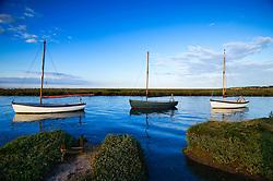 Morston Quay, Morston Marshes, North Norfolk Coast, England, UK.