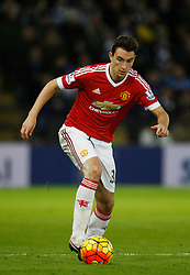Matteo Darmian of Manchester United in action  - Mandatory byline: Jack Phillips/JMP - 07966386802 - 28/11/2015 - SPORT - FOOTBALL - Leicester - King Power Stadium - Leicester City v Manchester United - Barclays Premier League
