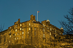 Castle in Winter sunshine, Edinburgh, 28 January 2019