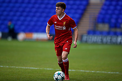 BIRKENHEAD, ENGLAND - Wednesday, December 6, 2017: Liverpool's Adam Lewis during the UEFA Youth League Group E match between Liverpool FC and FC Spartak Moscow at Prenton Park. (Pic by David Rawcliffe/Propaganda)