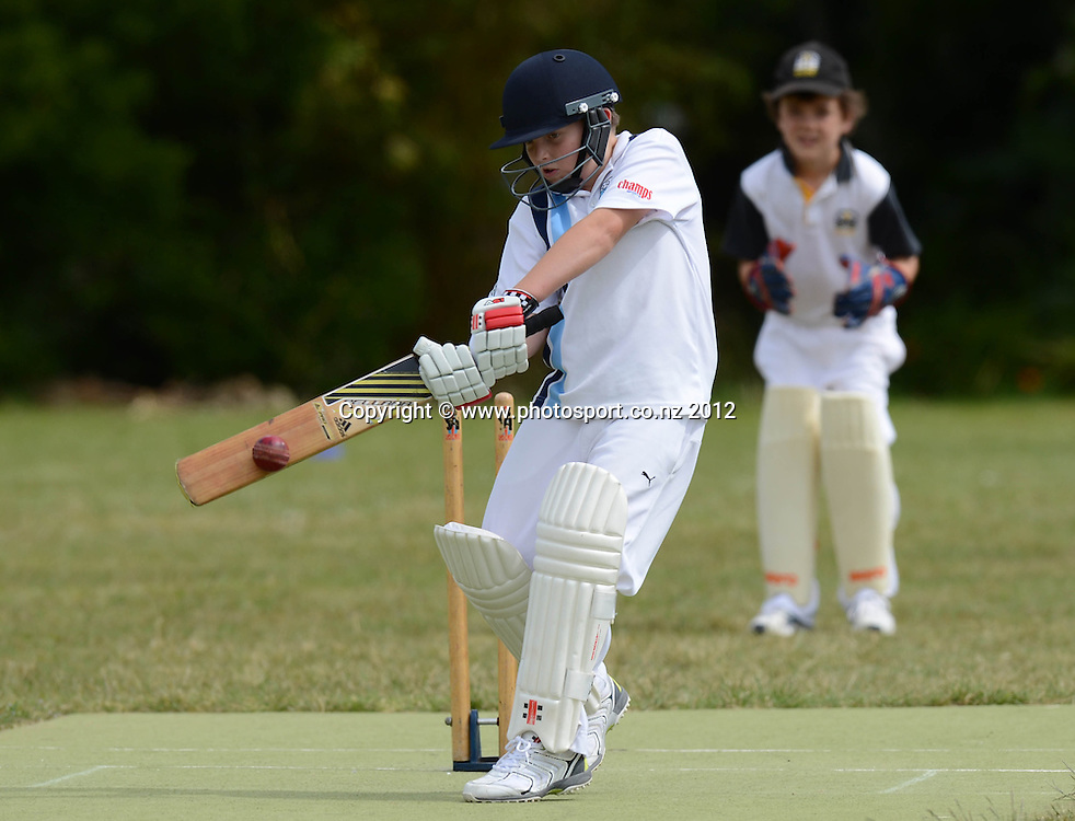 University v Grafton, 5th grade Junior Cricket. Churchill Park Primary School, Auckland. Saturday 24 November 2012