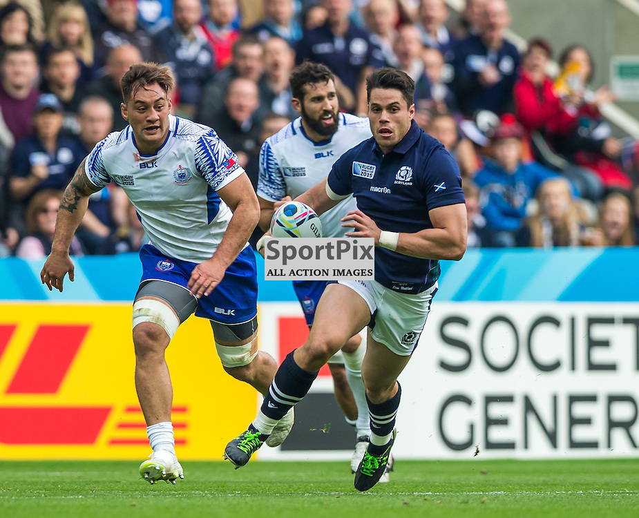 Sean Maitland in action during the Rugby World Cup match between Scotland and Samoa (c) ROSS EAGLESHAM | Sportpix.co.uk