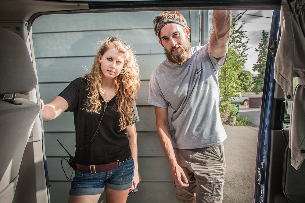 Film industry Production Assistants, Holly Furman and Jeromy Seward, Anchorage