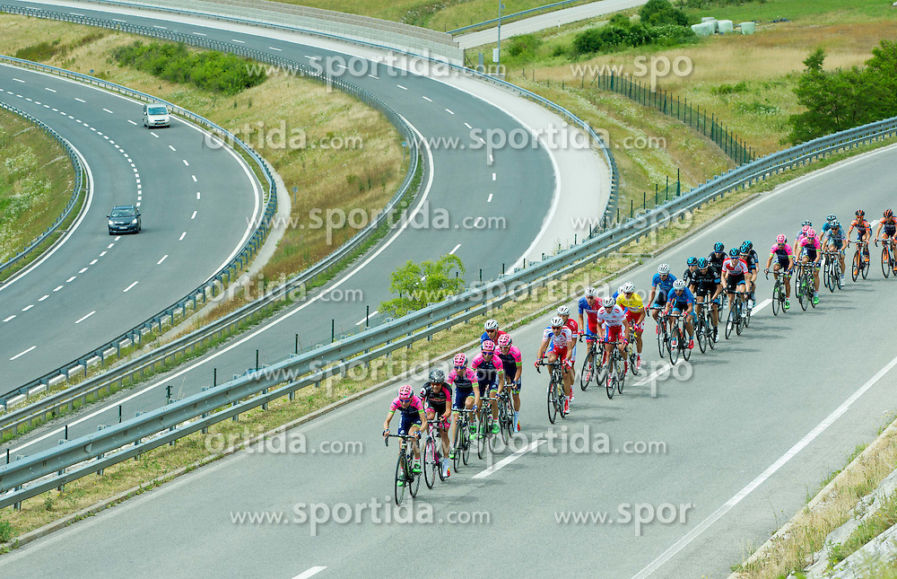 Peloton during Stage 4 of 22nd Tour of Slovenia 2015 from Rogaska Slatina to Novo mesto (165,5 km) cycling race  on June 21, 2015 in Slovenia. Photo by Vid Ponikvar / Sportida