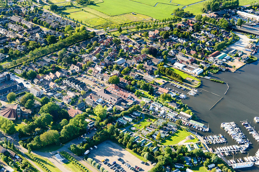 Nederland, Noord-Holland, Gemeente Castricum, 13-06-2017; Akersloot, dorp aan het Alkmaardermeer.<br /> Village at lake Alkmaar.<br /> <br /> luchtfoto (toeslag op standard tarieven);<br /> aerial photo (additional fee required);<br /> copyright foto/photo Siebe Swart