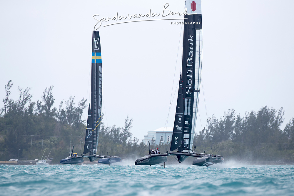 Second day of the Louis Vuitton America's Cup Semi-finals. Artemis Racing versus Softbank Team Japan, 1-3, 6th of June, 2017, Bermuda