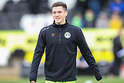 Forest Green Rovers Jack Aitchison(29), on loan from Celtic warming up during the EFL Sky Bet League 2 match between Forest Green Rovers and Plymouth Argyle at the New Lawn, Forest Green, United Kingdom on 16 November 2019.