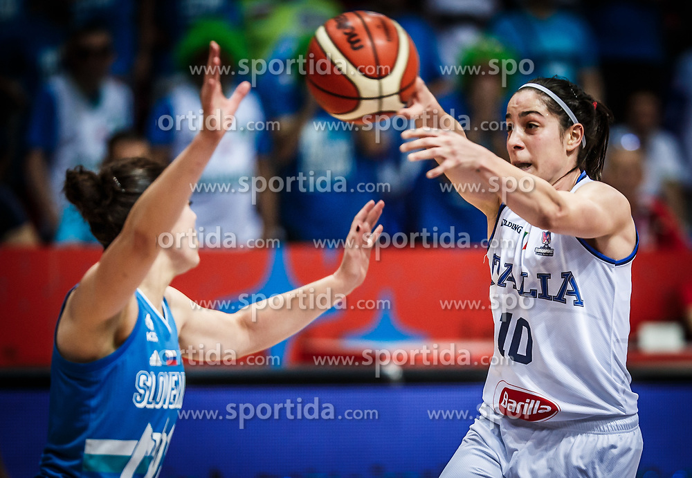 Francesca Dotto of Italy during basketball match between Women National teams of Italy and Slovenia in Group phase of Women's Eurobasket 2019, on June 30, 2019 in Sports Center Cair, Nis, Serbia. Photo by Vid Ponikvar / Sportida