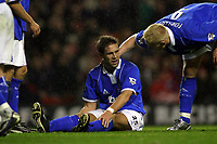 Fotball<br /> Premier League 30.11.2003<br /> Liverpool v Birmingham<br /> Matthew Upson og Mikael Forssell - Birmingham<br /> Foto: Morten Olsen, Digitalsport