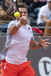 May 14, 2019 - Rome, Italy - Stan Wawrinka (SUI) in action against David Goffin (BEL) during Internazionali BNL D'Italia  Italian Open at the Foro Italico, Rome, Italy on 14 May 2019. (Credit Image: © Giuseppe Maffia/NurPhoto via ZUMA Press)