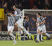 St Mirren's Steven Thompson celebrates after scoring - St Mirren v Dundee, Clydesdale Bank Scottish Premier League at St Mirren Park.. - © David Young - www.davidyoungphoto.co.uk - email: davidyoungphoto@gmail.com