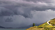 storm on Lake Hawea South Island New Zealand
