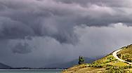 storm on Lake Hawea South Island New Zealand