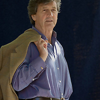 EDINBURGH, SCOTLAND - AUGUST 27 Melvyn Bragg poses during a portrait session held at Edinburgh Book Festival on August 27, 2006  in Edinburgh, Scotland. (Photo by Marco Secchi/Getty Images)