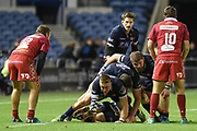 The Scotland pack were dominant during the Guinness Pro 14 2018_19 match between Edinburgh Rugby and Scarlets at BT Murrayfield Stadium, Edinburgh, Scotland on 2 November 2018.