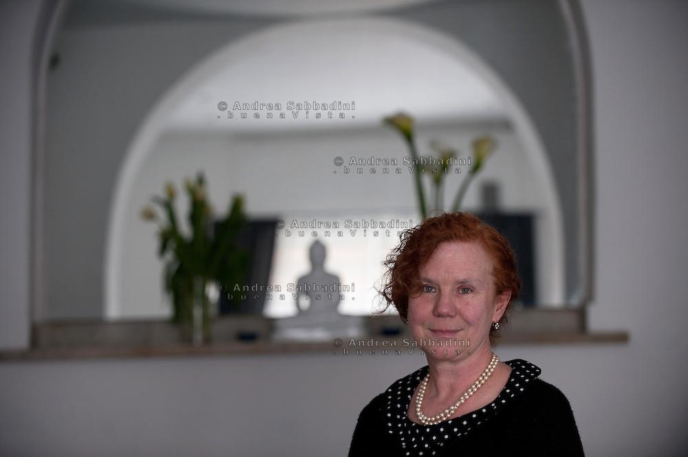 Roma, 29/03/2012: Mariangela Falà, vicepresidente dell'Unione Buddista Italiana. Spazio Urbano Protetto, via Clementina..©Andrea Sabbadini
