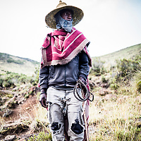 Mathibeli Khotola, one of the many friendly herdsmen/subsistence farmers we met on the trail, during a 6 day MTB traverse of Lesotho's mountains in April 2017.