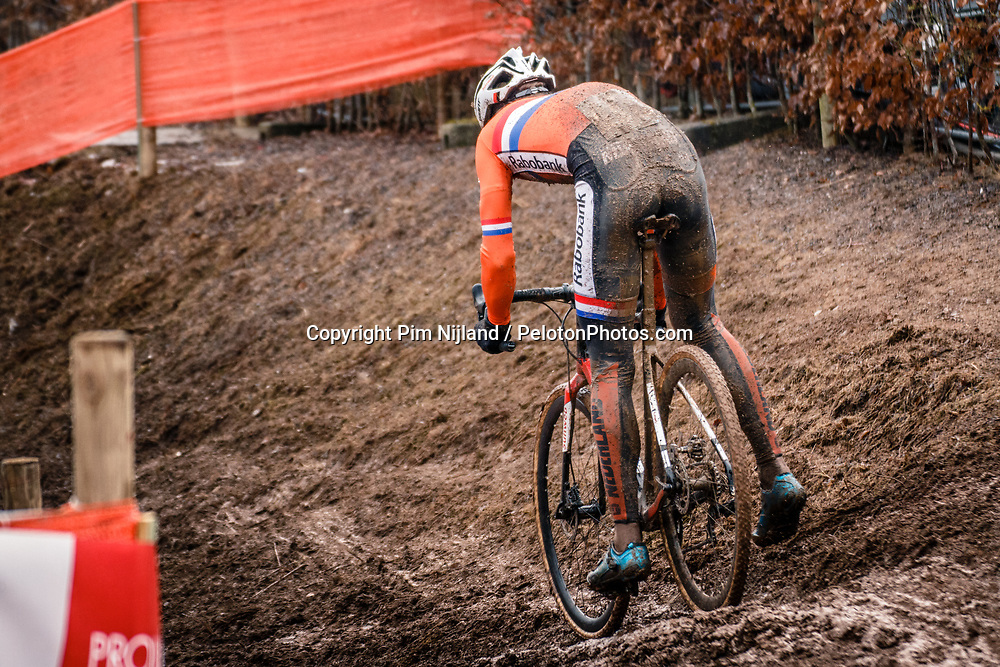 Joris NIEUWENHUIS of NED during the Men Under 23 race, UCI Cyclo-cross World Championship at Bieles, Luxembourg, 29 January 2017. Photo by Pim Nijland / PelotonPhotos.com | All photos usage must carry mandatory copyright credit (Peloton Photos | Pim Nijland)