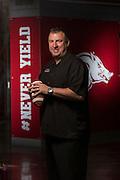 Arkansas Razorback head football coach Bret Bielema in Fayetteville, Arkansas.