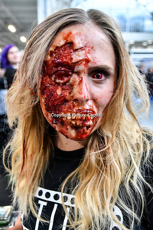 Tilt professional makeup - self-taught artist Charlotte Roli demo at IMATS London on 18 May 2019,  London, UK.