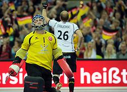 LEIZPIG - WC HOCKEY INDOOR 2015<br /> GER v SUI (QF 1)<br /> Foto: Germany scored a goal<br /> FFU PRESS AGENCY COPYRIGHT FRANK UIJLENBROEK