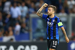 September 14, 2017 - Reggio Emilia, Italy - Alejandro Gomez of Atalanta celebrating after the goal of 3-0  during the UEFA Europa League Group E football match Atalanta vs Everton at The Stadio Città del Tricolore in Reggio Emilia on September 14, 2017. (Credit Image: © Matteo Ciambelli/NurPhoto via ZUMA Press)