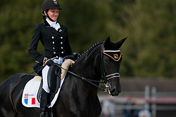 Anne Frederique Royon riding J'Adore in the Individual Tests Grade 1b Freestyle Para-Dressage, 2014 World Equestrian Games, Normandy, France