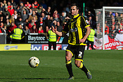 Burton Albion defender Phil Edwards on the ball during the Sky Bet League 1 match between Burton Albion and Barnsley at the Pirelli Stadium, Burton upon Trent, England on 16 April 2016. Photo by Aaron  Lupton.