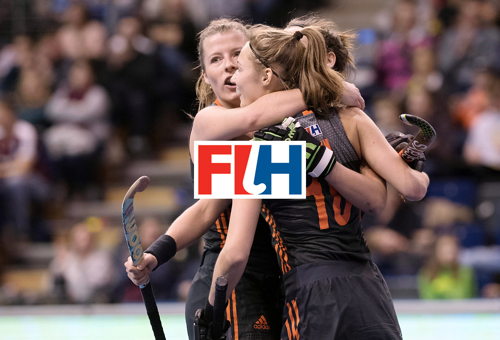 BERLIN - Indoor Hockey World Cup<br /> SF1 Netherlands - Ukraine<br /> foto: <br /> WORLDSPORTPICS COPYRIGHT FRANK UIJLENBROEK