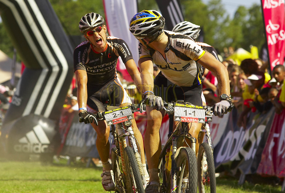 WESTERN CAPE, SOUTH AFRICA -  31 March 2008, during stage three of the 2008 Absa Cape Epic Mountain Bike stage race from Calitzdorp Spa.to Langenhoven High School in Riversdale, Western Cape, South Africa..Photo by Gary Perkin/SPORTZPICS